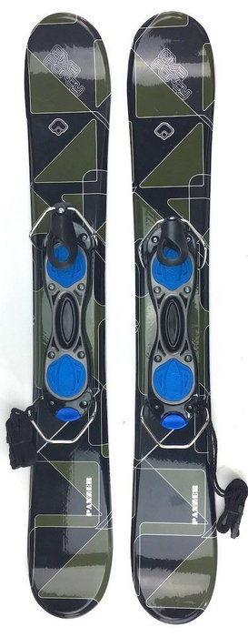 Snowjam Five Forty Panzer 75cm Skiboards Snowblades with ski boot bindings