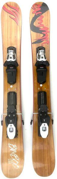Summit Skiboards Bamboo 110 cm Ski Boards w. Atomic Ski Bindings