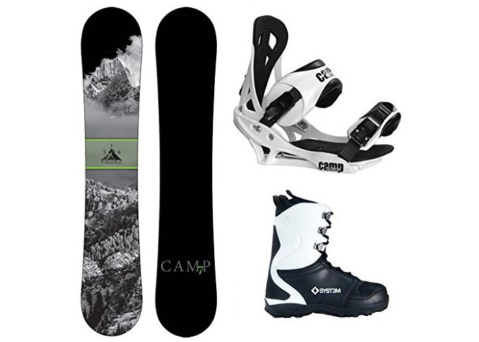 Camp Seven 2018 Valdez Snowboard Summit Bindings & APX Boots Men's Complete Snowboard Package Review