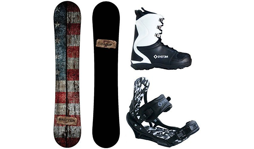 Camp Seven Drifter and APX Men's Complete Snowboard Package 2018 Review