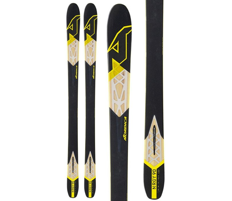 Nordica NRGY 90 Skis Black Men's Review