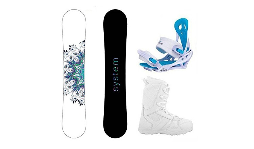 System 2018 Flite Snowboard - Mystic Bindings - Lux Boots Womens Complete Snowboard Package Review